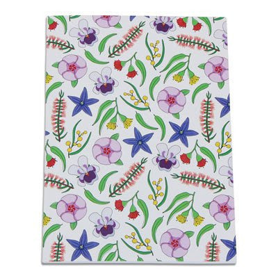 Australian Made Gifts & Souvenirs with the Australian Wildflowers A5 Notebook -by Bits of Australia. For the best Australian online shopping for a Stationery - 1