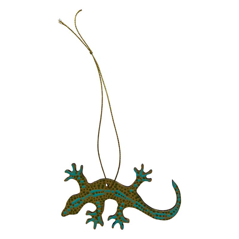 Aboriginal Art Gecko Decorations