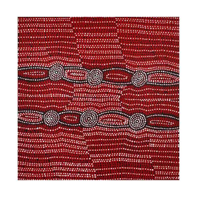 Red Aboriginal Wall Art Original Artwork from Warlkurlangu