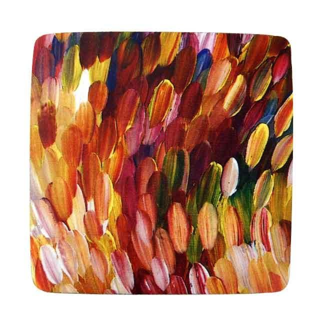 Aboriginal Art Coaster Gloria Petyarre
