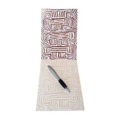 Australian Made Gifts & Souvenirs with the A5 Notepad Artist Queenie Kemarre -by Utopia. For the best Australian online shopping for a Note Pads - 1