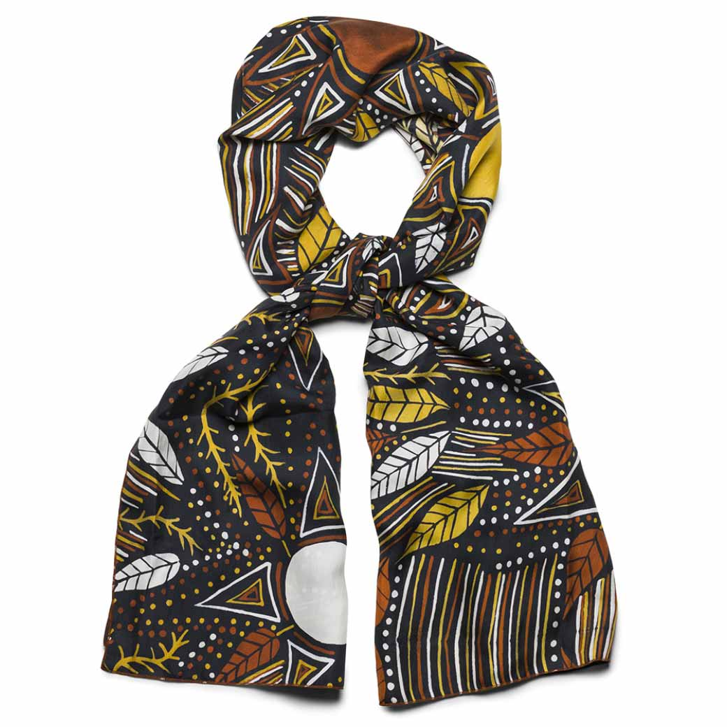 Unique Aboriginal Gifts from the Tiwi Islands Australia - Silk Scarf Australian Made