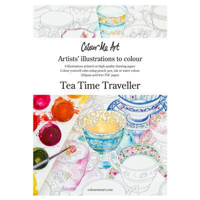 Australian Made Gifts & Souvenirs with the Tea Time Traveller Colouring In Pack -by ColourMeArt. For the best Australian online shopping for a Accessories - 1