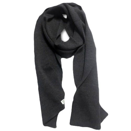 Australian Merino Wool Scarves for Men Dark Grey