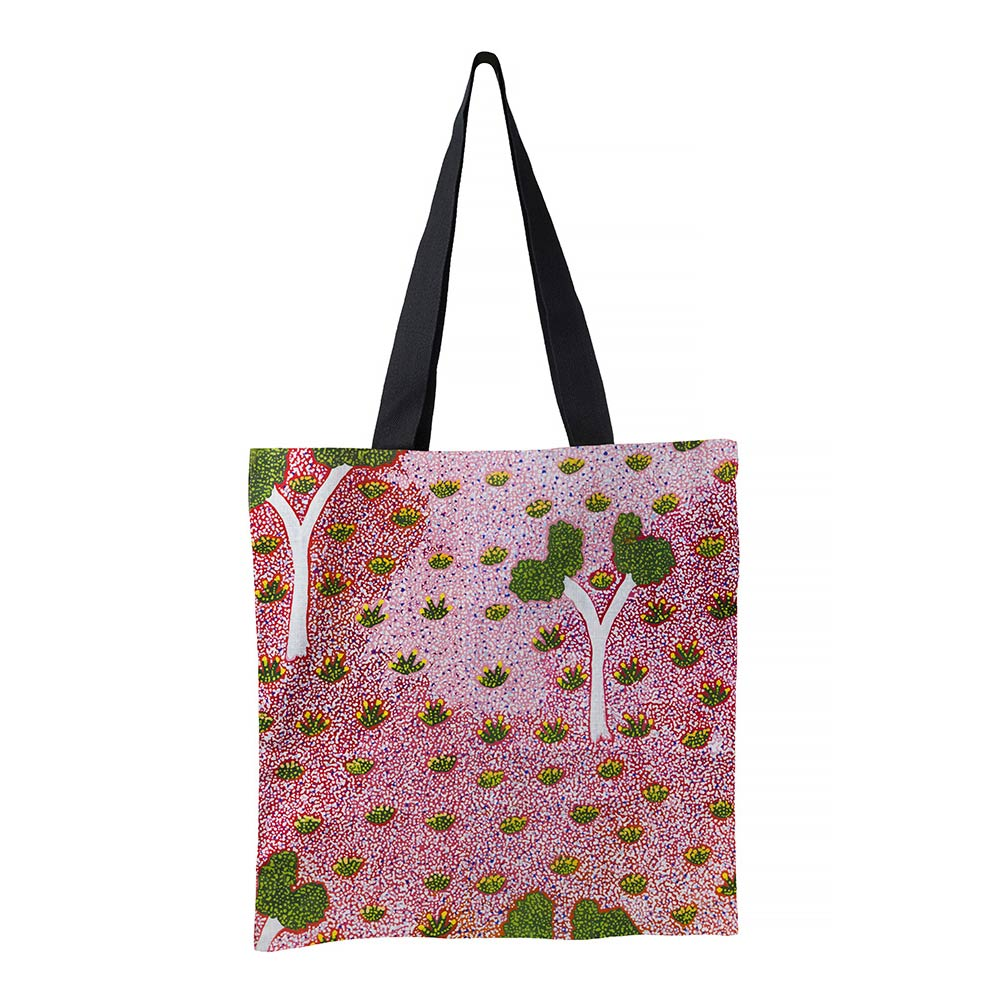 The Artists of Ampilatwatja  Aboriginal Art Souvenir Tote Bag Made in Australia