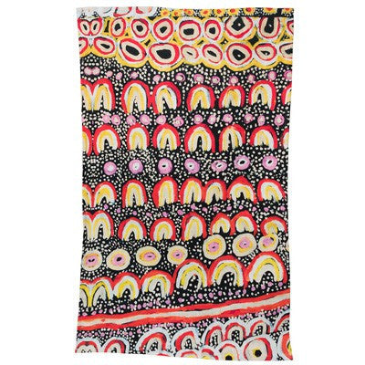 Australian Made Gifts & Souvenirs with the Maggie Long Aboriginal Art Tea Towel -by Alperstein Designs. For the best Australian online shopping for a Apron