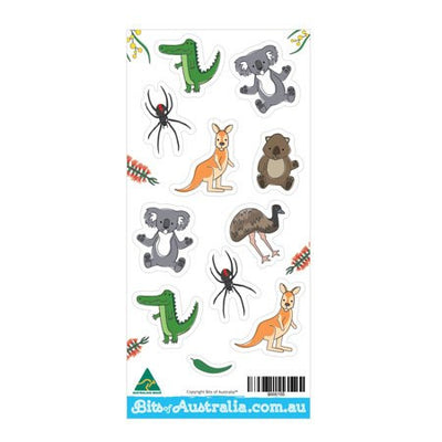 Australian Made Gifts & Souvenirs with the Aussie Animal Stickers -by Bits of Australia. For the best Australian online shopping for a Magnets - 1