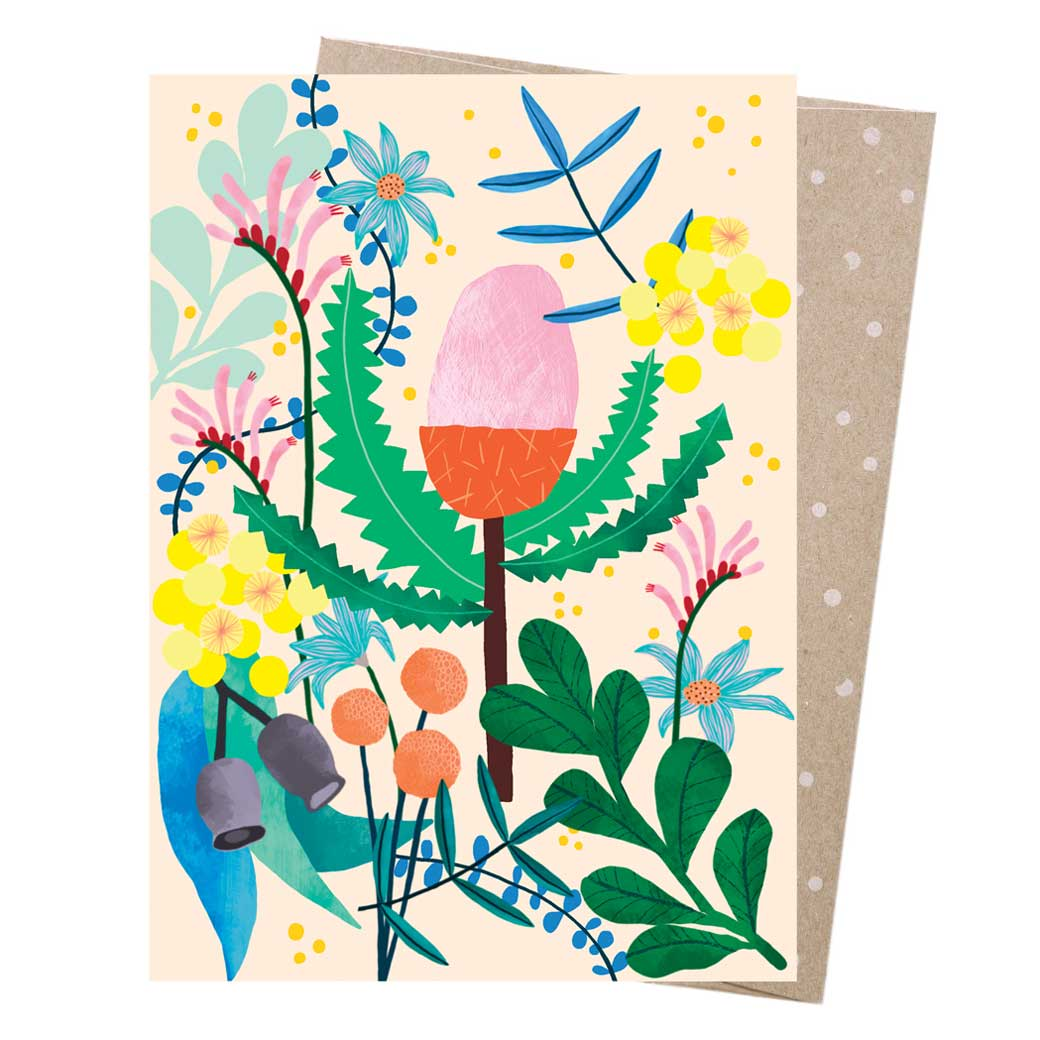 Aussie Florals Colourful Greeting Card