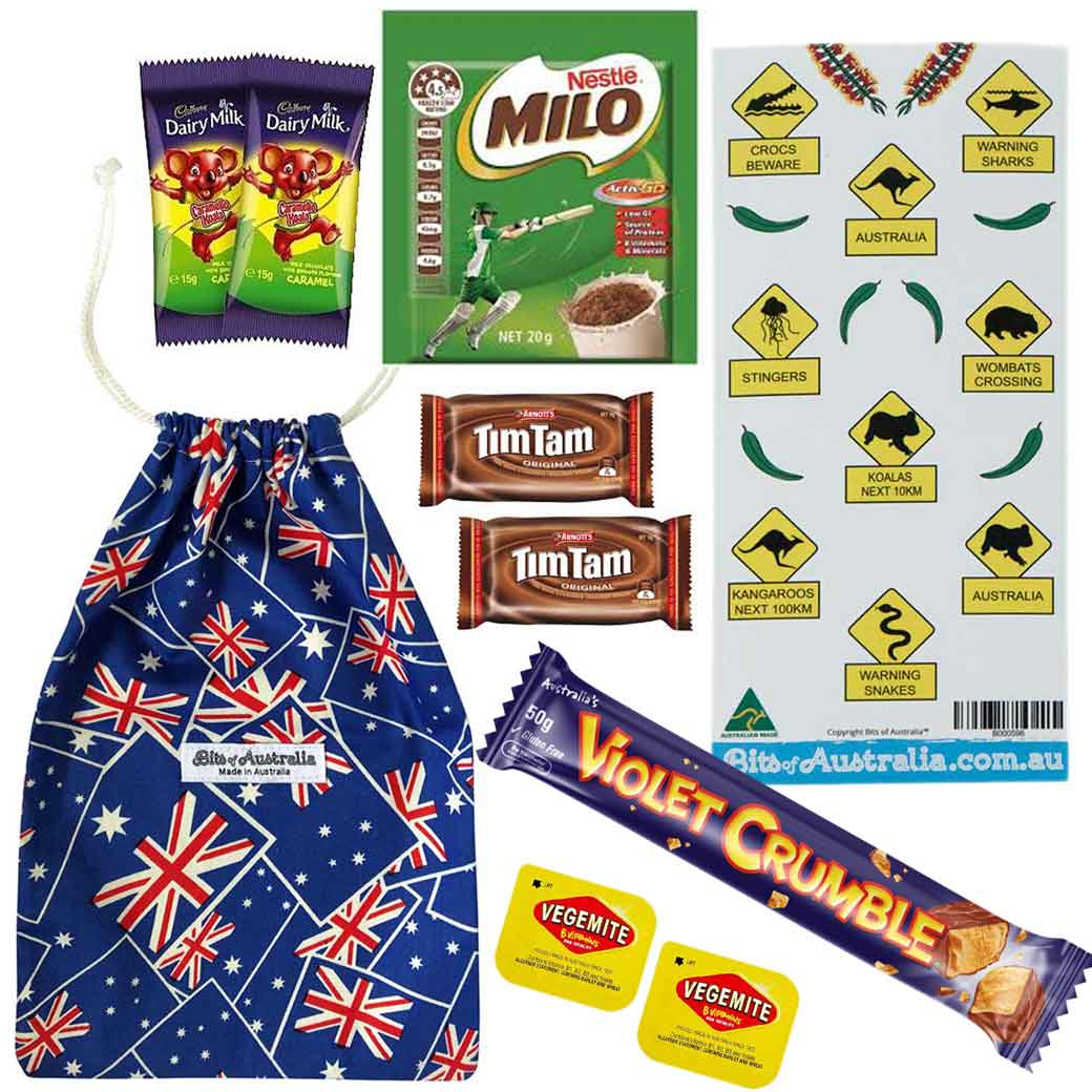 Aussie Food Treat Bag - Down Under Snack Classics for A Fun Care Package