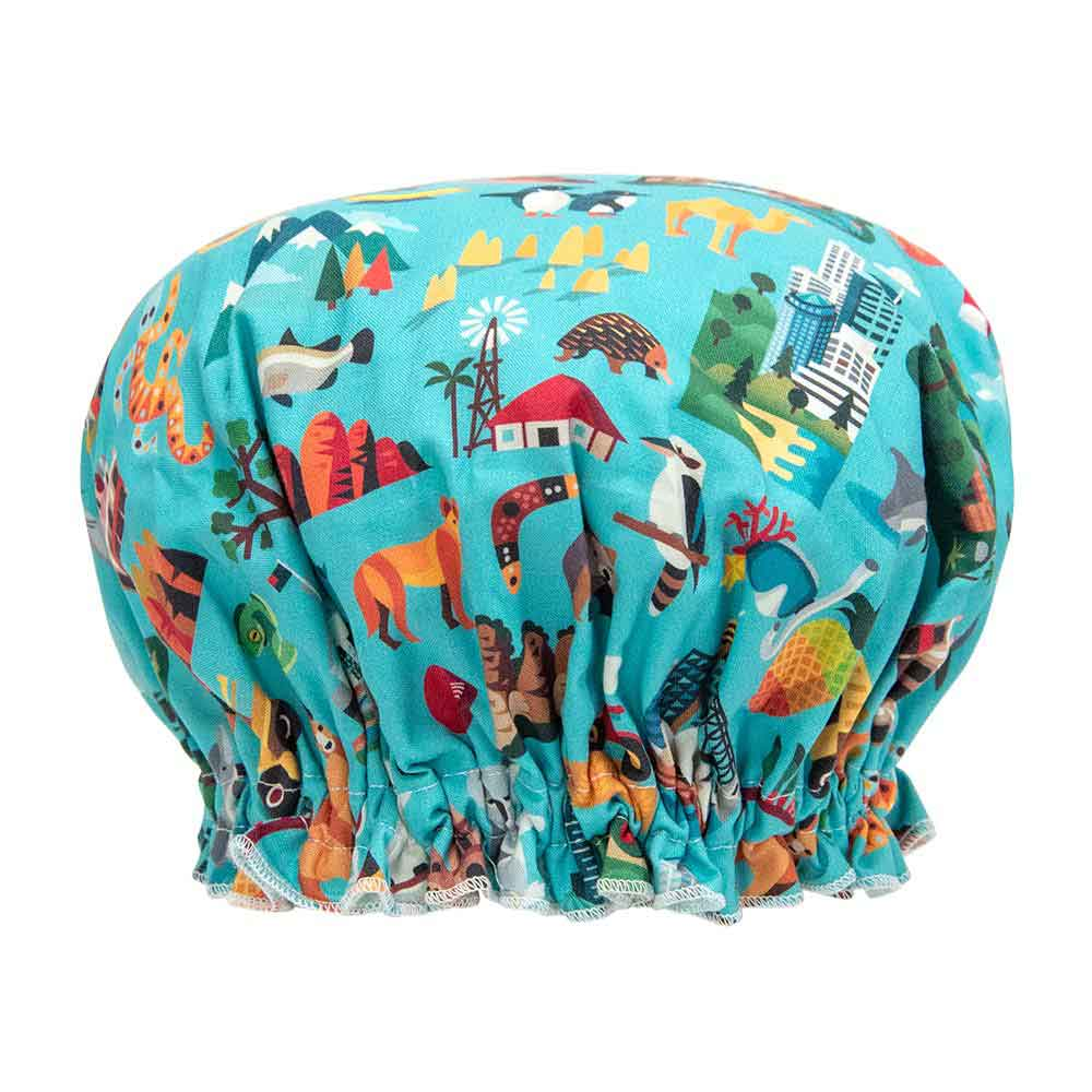 Aussie Icons Novelty Shower Cap Australian Made Christmas Gifts