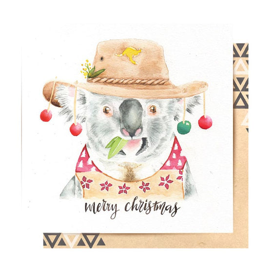Merry Christmas Koala Greeting