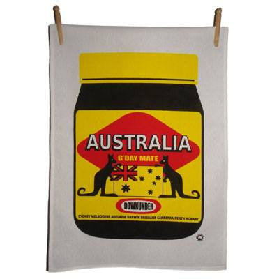 Australian Made Gifts & Souvenirs with the Aussie Mite Tea Towels -by Kirsten Haworth Textiles. For the best Australian online shopping for a Souvenirs