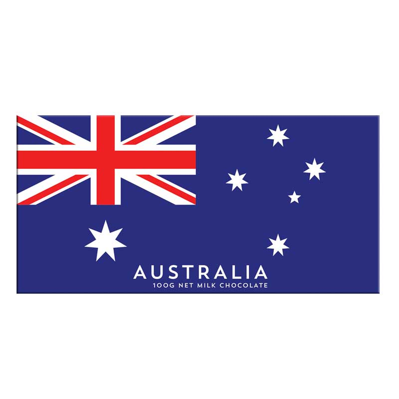 Australian Citizenship Gifts - Australia Flag Chocolate Bar