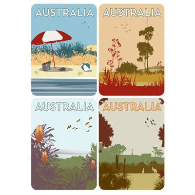 Scenes of Australia Magnet Card