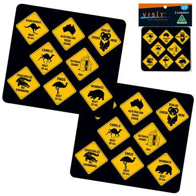 Australian Road Signs Coasters