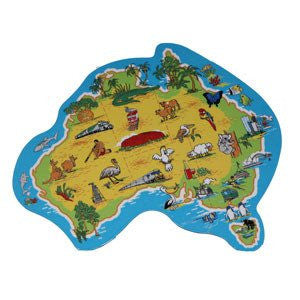 Australian Made Gifts & Souvenirs with the Shape of Australia Magnet -by Visit Merchandise. For the best Australian online shopping for a Magnets - 1