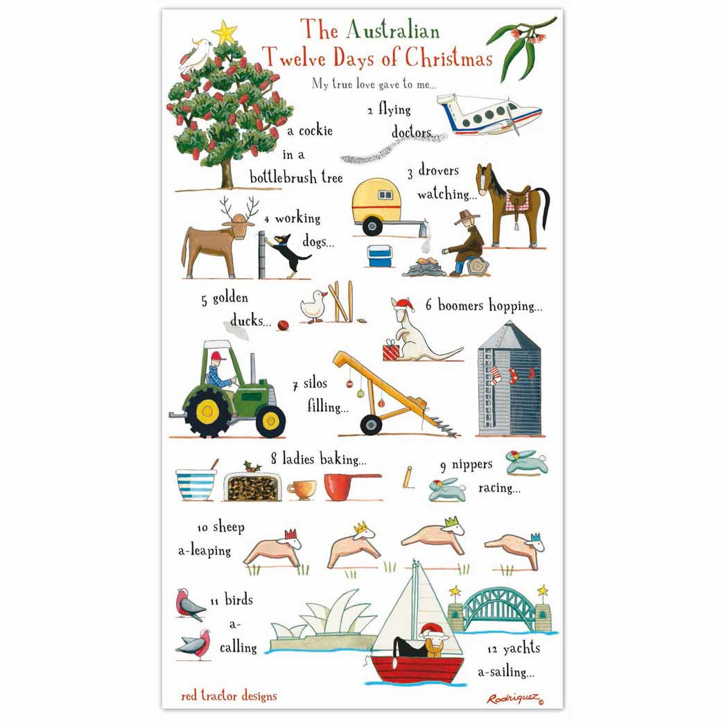 Australian-12-Days-of-Christmas-Tea-Towel