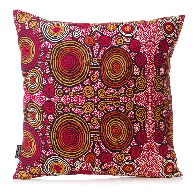 Aboriginal Cushion Cover Teddy Gibson