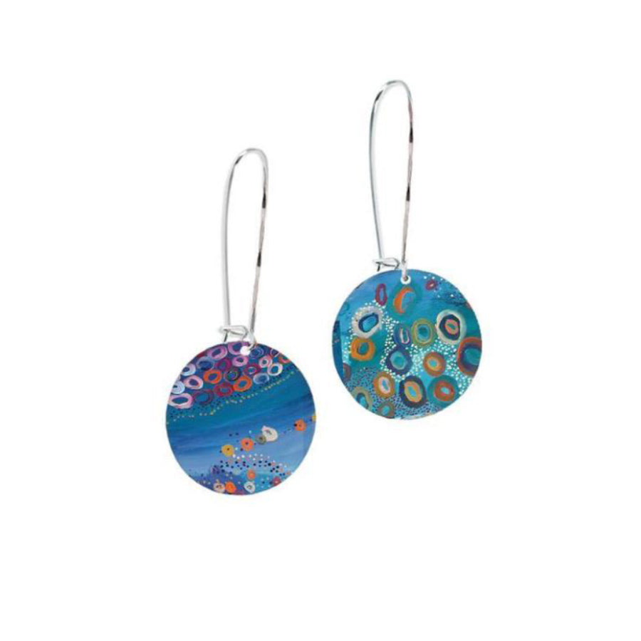 Australian Aboriginal Jewelry Gifts for Women - Brust Tail Possum Dreaming Earrings
