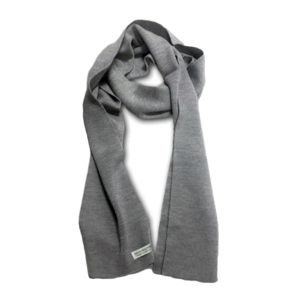 Australian Made Merino Wool Scarf Gifts for Men - Silver Grey
