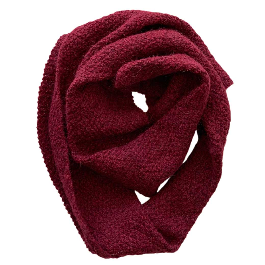 Unique Australian Gifts for Chinese Visitors Red Alpaca & Merino Wool Scarf