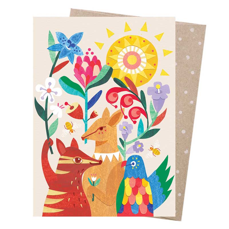 Australian made greeting cards online at bits of australia animal party greeting card m4hsunfo