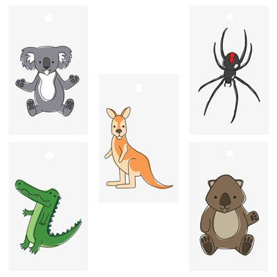 Australian Made Gifts & Souvenirs with the Australian Animal Gift Tag Pack -by Bits of Australia. For the best Australian online shopping for a Greeting Cards - 1