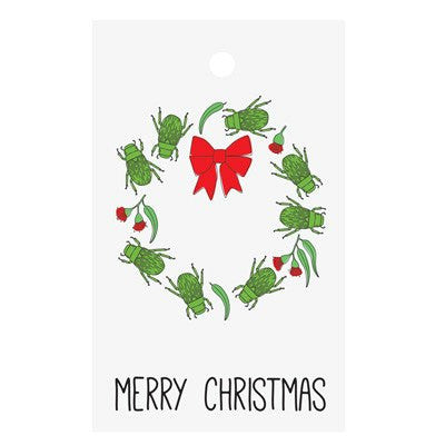 Australian Made Gifts & Souvenirs with the 6 Australian Christmas Beetle Gift Tags -by Bits of Australia. For the best Australian online shopping for a Greeting Cards - 1