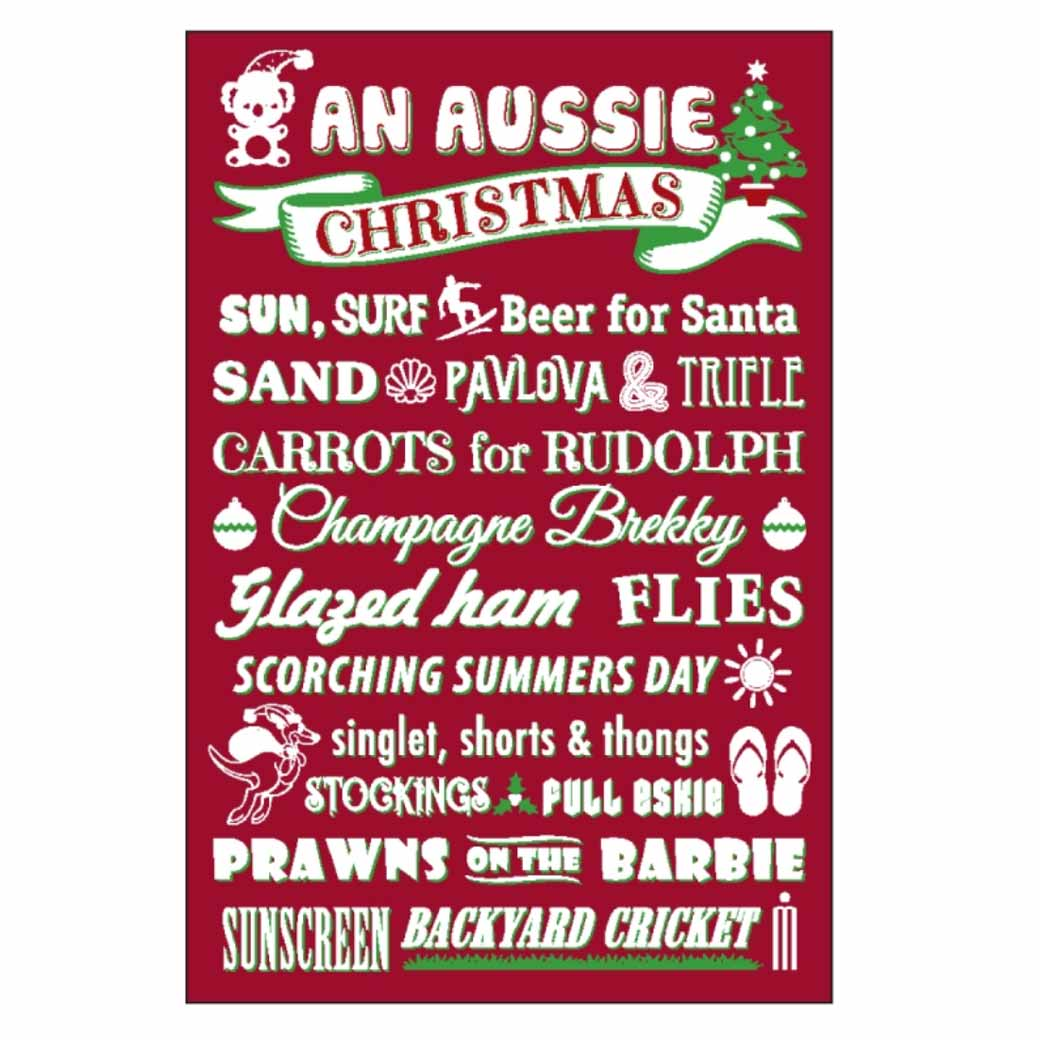 Australian Themed Christmas Magnet - Unique Souvenirs Made in Australia Under $10