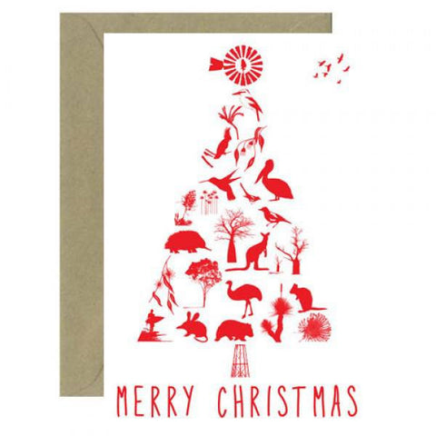 Australian Made Gifts & Souvenirs with the Christmas Tree Card -by Mokoh Design. For the best Australian online shopping for a Accessories