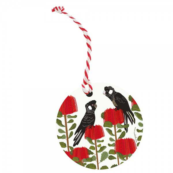 Australian Christmas Tree Ornament - Black Cockatoo