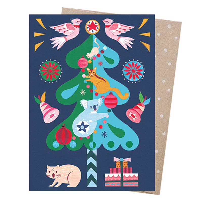 Australian Christmas Tree Greeting Card