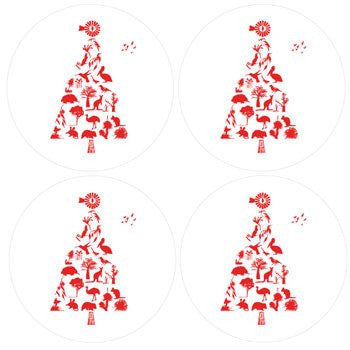 Australian Made Gifts & Souvenirs with the Christmas Tree Coasters -by Mokoh Design. For the best Australian online shopping for a Accessories
