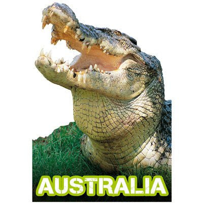 Australian Made Gifts & Souvenirs with the Crocodile Magnet -by Visit Merchandise. For the best Australian online shopping for a Magnets