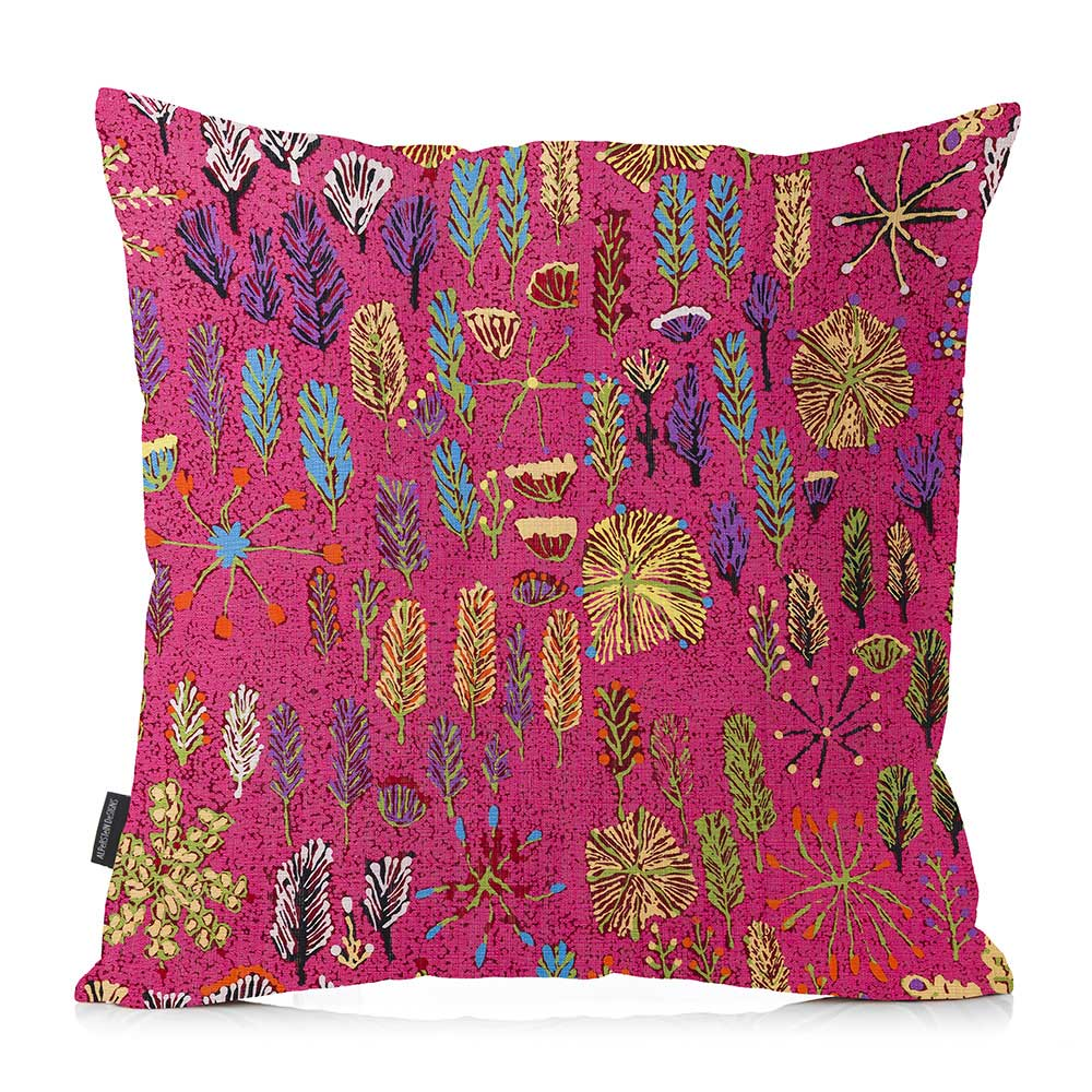 Australian Cushion Covers Bright Pink Made in Australia Aboriginal