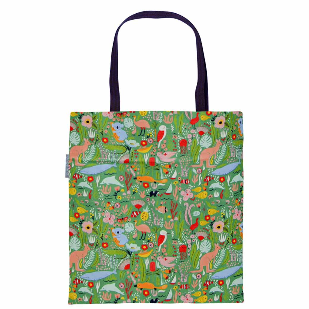 Eco Shopping Bags Down Under Print by Annabel Trends