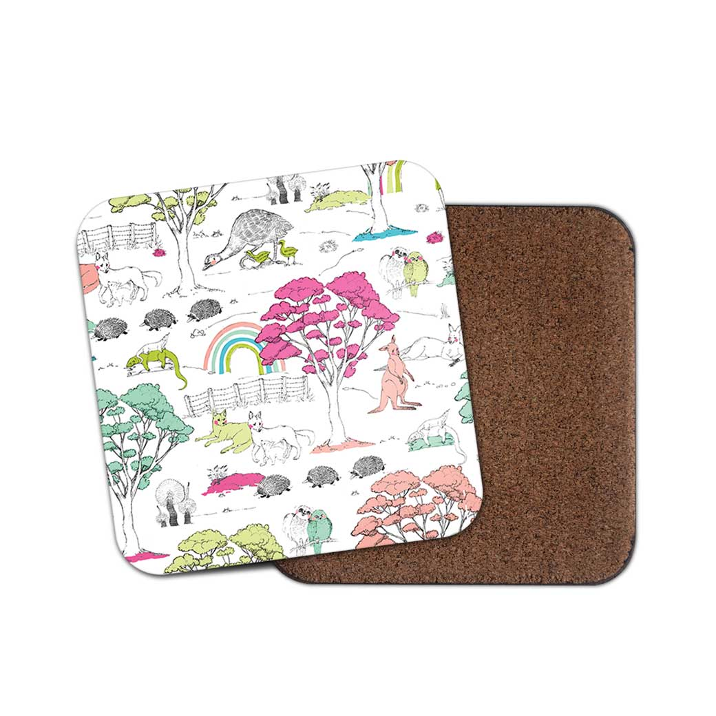 Australian themed souvenir coasters for the home