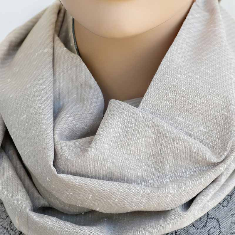 Australian Fashion Gifts Sustainable Patchwork Infinity Scarf Taupe
