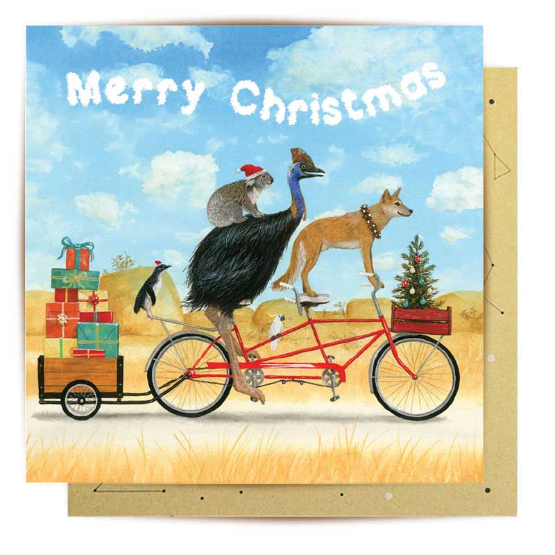 Australian Bike Adventure Christmas Card
