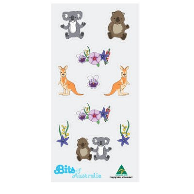 Australian Flowers & Animals Sticker Sheet