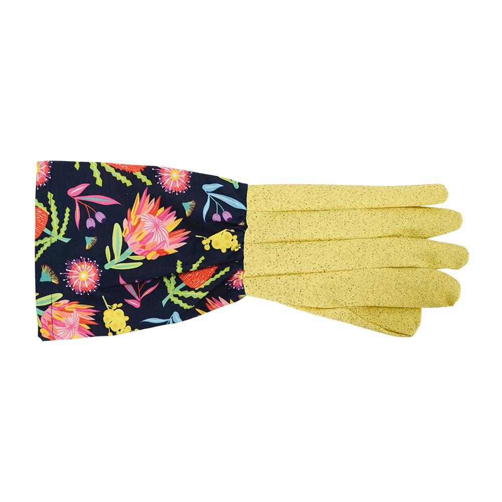 Gifts for Gardeners - Long Sleeve Gardening Gloves Australian Made Flora Design