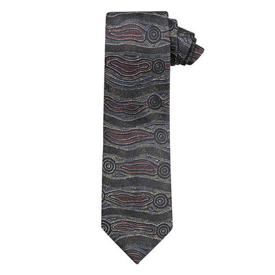 Souvenir Mens Tie Made in Australia - Aboriginal Designs