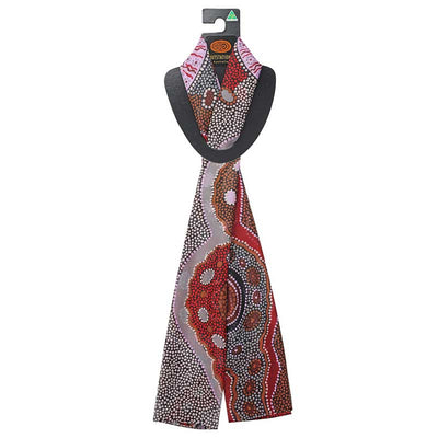 Authentic Aboriginal Scarf Made in Australia - Kangaroo Story by Outstations