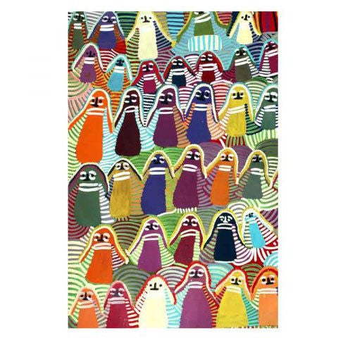 Australian gifts for overseas with the microfibre Aboriginal art tea towel made in Australia