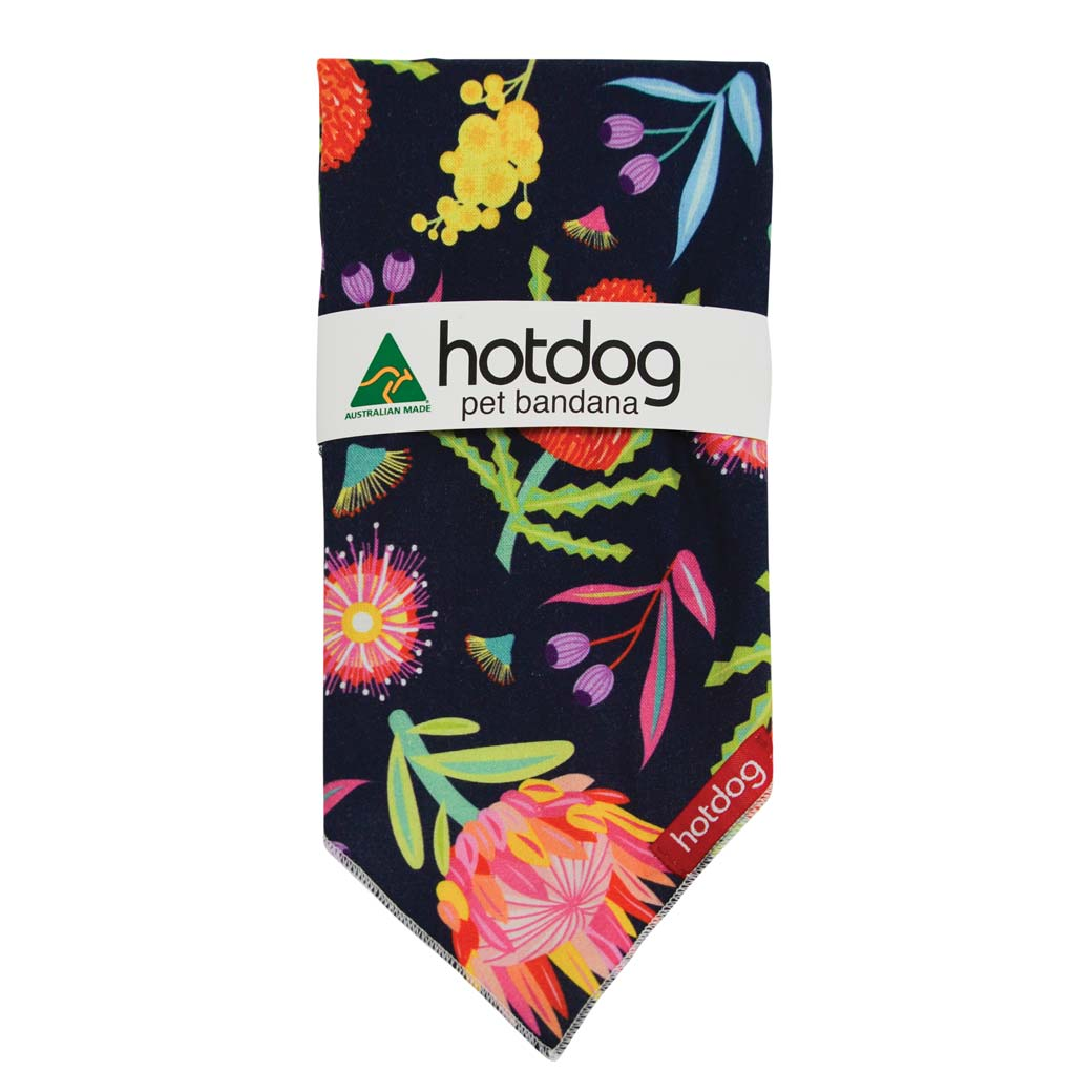 Australian Dog Bandana Native Flowers Print Unique Gifts for Dog Lovers