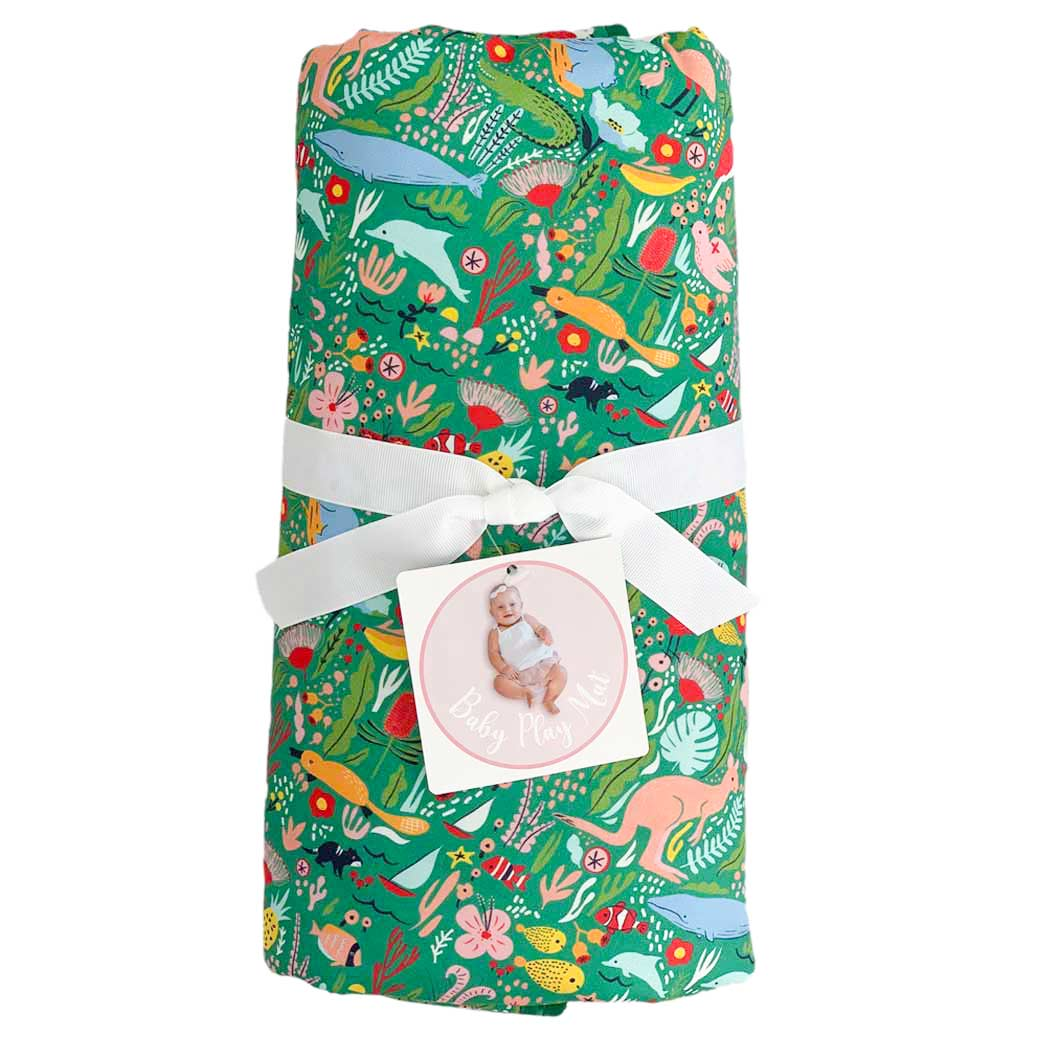 Australian themed baby gifts made in Australia - playmat easy to fold and travel with