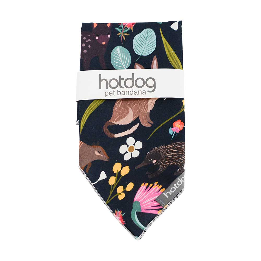 Fashionable Dog Accessories Native Animals Illustrated Cotton Bandana