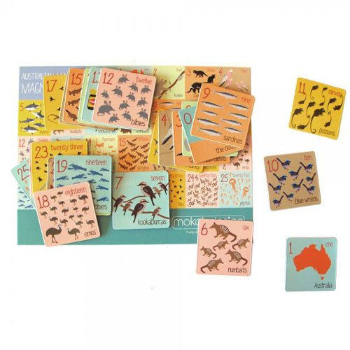 Australiana numbers magnet pack for Australian Gifts for Kids