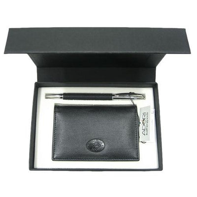 Corporate Gift Set Made in Australia Kangaroo Leather Pen & Cardholder Set