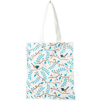 Blue Wren Canvas Bag